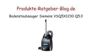 Test Bodenstaubsauger Siemens VSQ5X1230 Q5 0