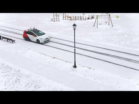 «Яндекс.Такси» — первые зимние тесты беспилотного такси