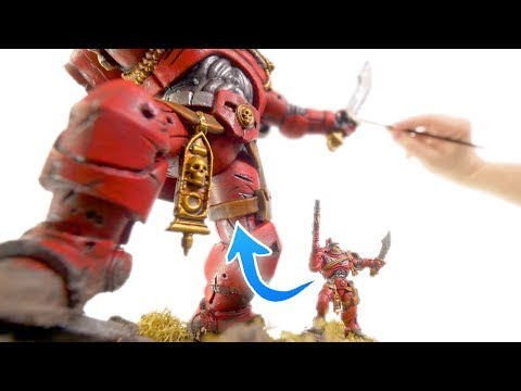 Sculpting and painting a HUGE Warhammer 40k Space Marine!