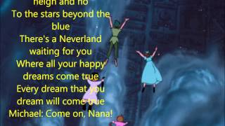 """You Can Fly! (w Lyrics) From Disney's """"Peter Pan"""""""