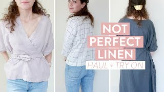 Not Perfect Linen HAUL + TRY ON   Summer Wardrobe, Table Linens And Overall Review