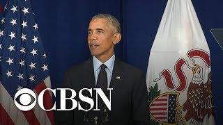 Obama on Trump, challenges to democracy - full speech