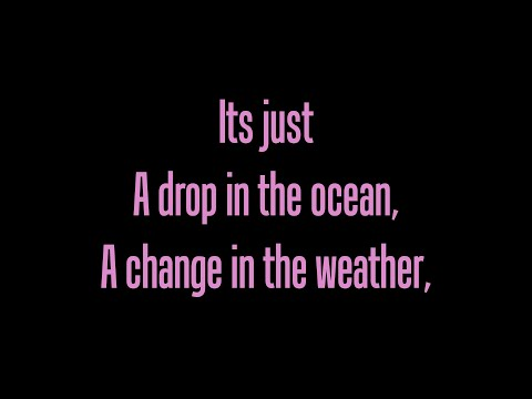 Ron Pope - A Drop In The Ocean (Lyrics on screen)