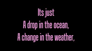 Ron Pope- A Drop In The Ocean- lyrics