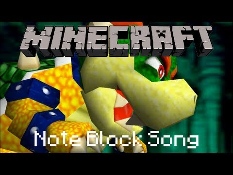 Minecraft Note Block Song Super Mario Bros Bowser S Castle Theme