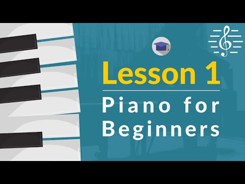 Online Piano Course for Beginners: Lesson 1 - Hand Shape, Playing Position, the Keyboard & Middle C