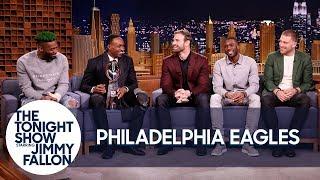 Jimmy Interviews the Super Bowl Champion Philadelphia Eagles - dooclip.me