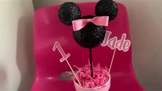 DIY: Minnie Mouse Centerpiece
