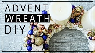 How To Make An Advent Wreath | Holiday Home Decor DIY | Szilvia Bodi
