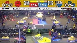 Qual 109 - 2018 FIRST Championship - Houston - Turing Subdivision