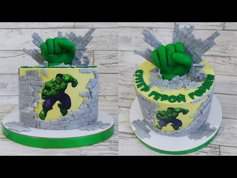 Как сделать руку Халка для торта