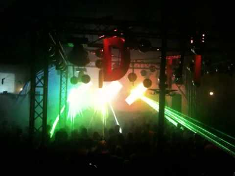 Feestje aan de Gracht 2010 - Lasershow tijdens Alex Under - deel 2