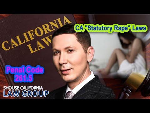 "CA ""Statutory Rape"" Laws | Penal Code 261.5"