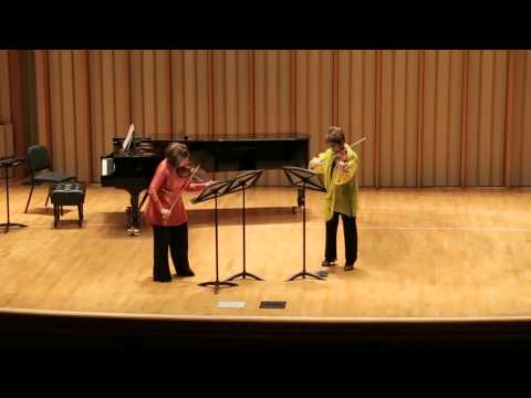 World premier performance of my 'Tale for Two Violins', premiered by the renowned violinists Ani and Ida Kavafian.