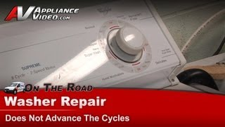Whirlpool Washer Repair - Does Not Advance Cycles - LSR8233EQ0
