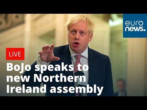 Boris Johnson speaks to new Northern Ireland assembly | LIVE