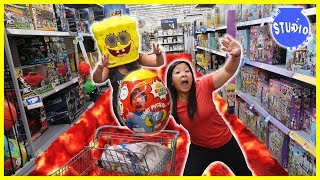 FLOOR IS LAVA at Walmart + Shopping for Surprise Birthday Toys for Combo Panda