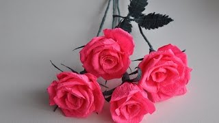 Crepe Paper Rose   Step By Step # DIY