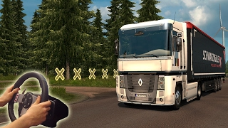 ★Renault Magnum - Euro Truck Simulator 2 with Logitech G27 | Steering wheel camera #12