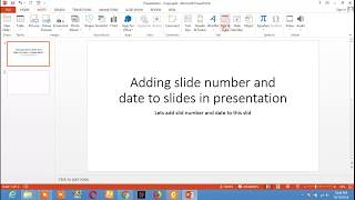 Add Slide number and date to slides in Power point presentation