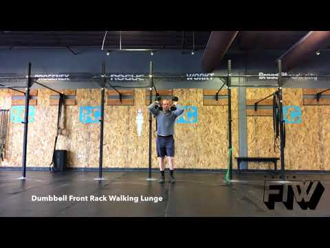 Dumbbell Front Rack Walking Lunge