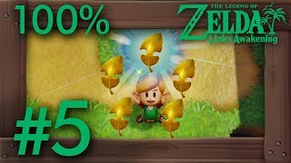 Zelda Link's Awakening (Switch): 100% Walkthrough Part 5 - 5 Golden Leaves  in Kanalet Castle