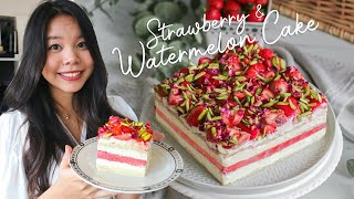 Strawberry Watermelon Cake - recreating famous dessert recipe by Black Star Pastry