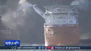 Two more bodies retrieved from Iranian ship aflame in East China Sea