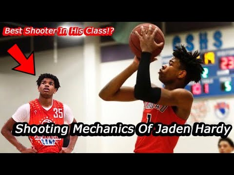 Shooting Mechanics Of Jaden Hardy : Basketball Form Shooting