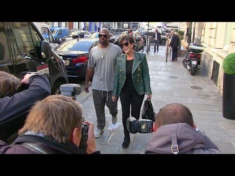 EXCLUSIVE - Kendall Jenner, Kris Jenner and Corey Gamble leave Balmain headquarters in Paris