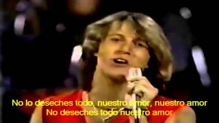ANDY GIBB   Our love Don't throw it all away Subtitulos en Español 720p