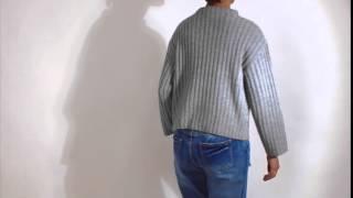 NIZIIROボトルネックアランニットセーター
