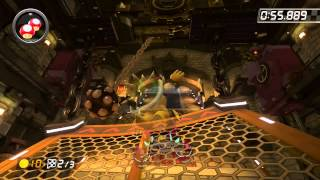 Bowser's Castle - 2:06.002 - よっしー (Mario Kart 8 World Record)
