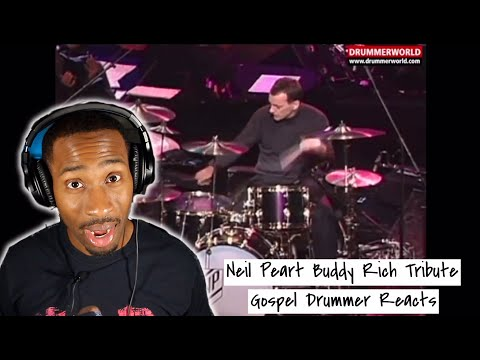 """Gospel Drummer REACTS to Neil Peart & The Buddy Rich Big Band 1994 """"Cotton Tail"""" Drum Solo"""