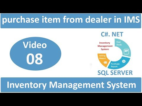 how to purchase item from dealer in inventory management system