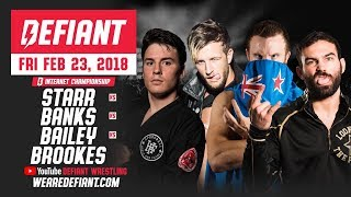 Defiant Wrestling #10: 4-Way Internet Title Match + Much More