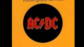 AC/DC - hell ain't a bad place to be (BBC Transcription Services)