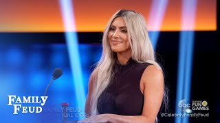 Kim Vs Khloe! Let the trash talking begin! | Celebrity Family Feud
