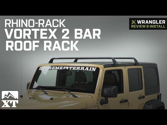 Rhino-Rack Vortex SG 2 Bar Roof Rack - Black (07-10 Jeep Wrangler JK 2  Door
