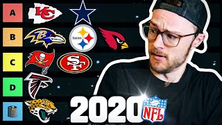 THE ULTIMATE NFL TIER LIST 2020 - RANKING ALL 32 TEAMS! (Do You Agree?)