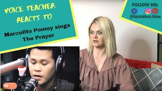 ⫷ Voice Teacher Reacts to ➠ Marcelito Pomoy sings The Prayer Celine Dion Andrea Bocelli LIVE ⫸