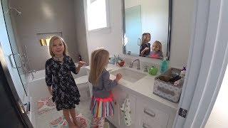 VLOG Как мы снимаем видео Николь и Алиса учат английский Play date Самый обычный день в Америке