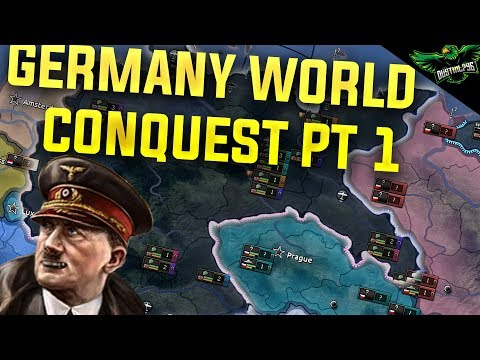 Hearts of Iron 4 Germany - World Conquest - Part 1 (HOI4 Man the Guns)