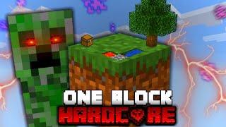 Minecraft One Block Skyblock, But Its HARDCORE!