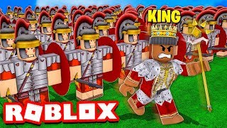 I became KING and built the BIGGEST ARMY in the WORLD!! (Roblox)