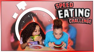 SPEED EATING CHALLENGE (we almost threw up)