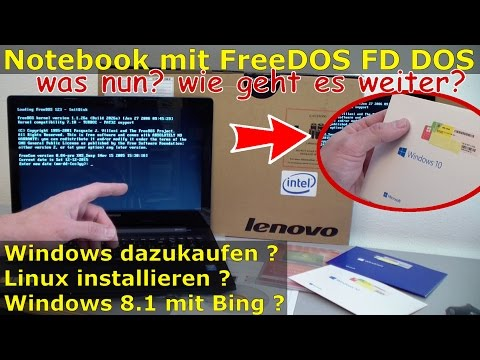 Notebook mit FreeDOS ohne Windows Betriebssystem gekauft - bootet kein Windows - was nun?