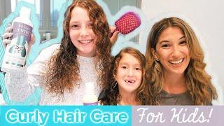 Detangle Kids Curly Hair - Easy Morning Routine for Moms | Back To School 2019