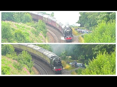 LMS v LNER Steam shootout up Wellington Bank 7th August 2016…