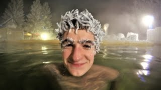 Craziest Freeze Hair In The World - Hot Springs Canada